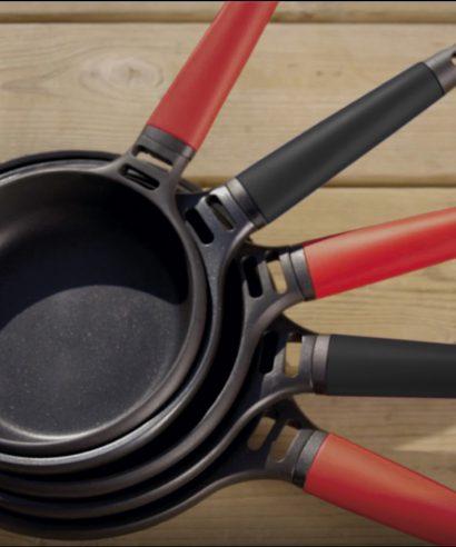 Fundix los handvat voor koeken- grill- en sauspannen - rood-0