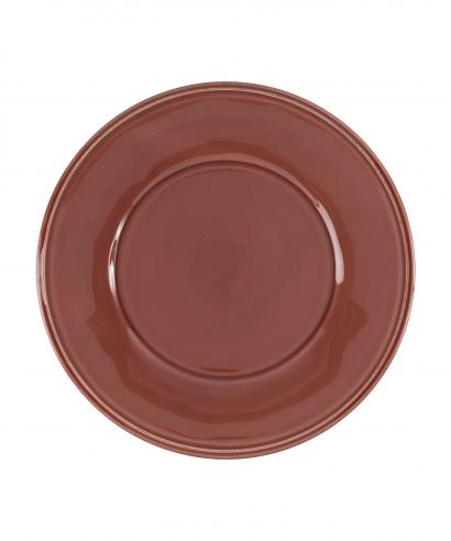 Coté Table Constance dessert/ontbijt bord 23.5 cm - TOMETTE rood (2 stuks)-0