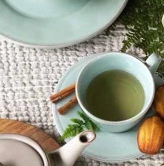 Coté Table Constance ontbijt/lunch kop en schotel 37,5cl - sea green (2 stuks)-0